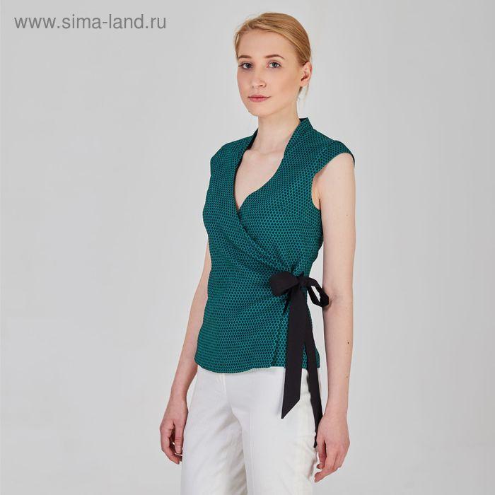 Блуза женская, размер 48, рост 170 см, цвет зелёный (арт. Y9831-0101)