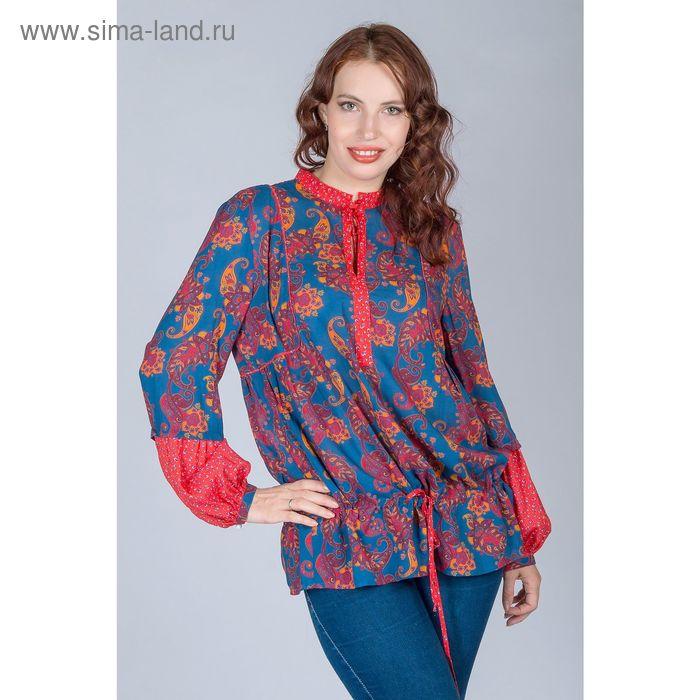 Блуза женская, размер 44, рост 170 см, цвет огурцы (арт. Y1163-0238)