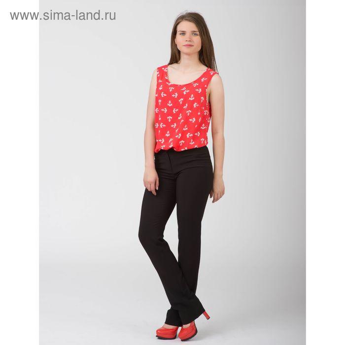 Блуза женская, размер 42, рост 170 см, цвет красный белый якорь (арт. Y1155-0230)