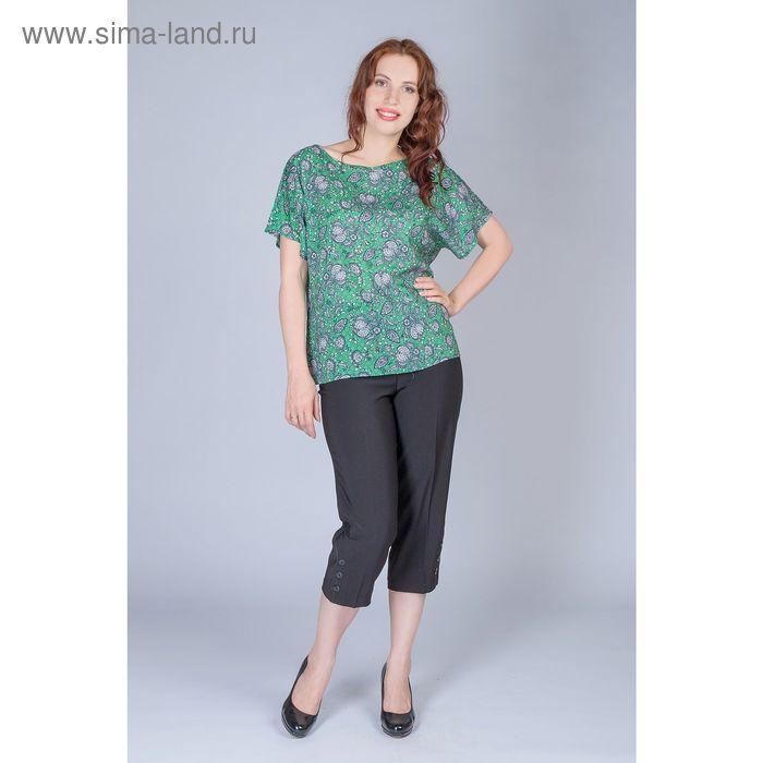 Блуза женская, размер 50, рост 170 см, цвет зелёный (арт. B1395-0869 С+)