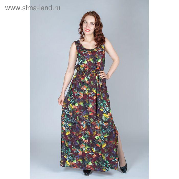 Платье женское, размер 48, рост 170 см, цвет цветной принт (арт. Y1159-0237)