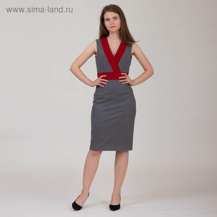 Платье женское, размер 42, рост 170 см, цвет серый (арт. Y4304-0211)