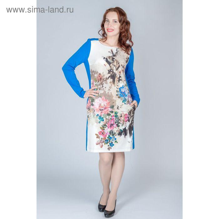 Платье женское, размер 54, рост 170 см, цвет синий (арт. Y0235-0227 С+)