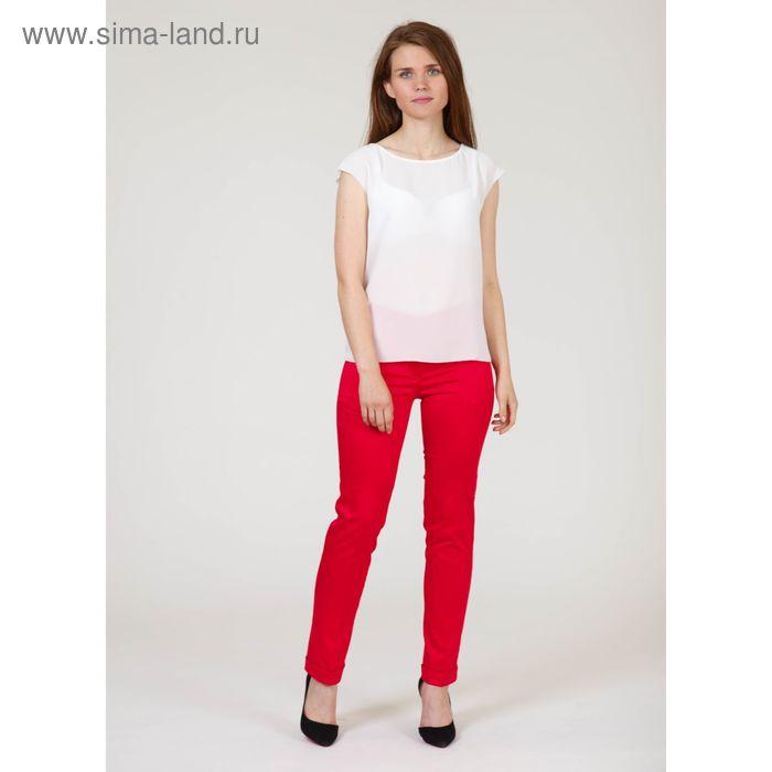 Брюки женские, размер 42, рост 170 см, цвет красный (арт. B6710-0835)