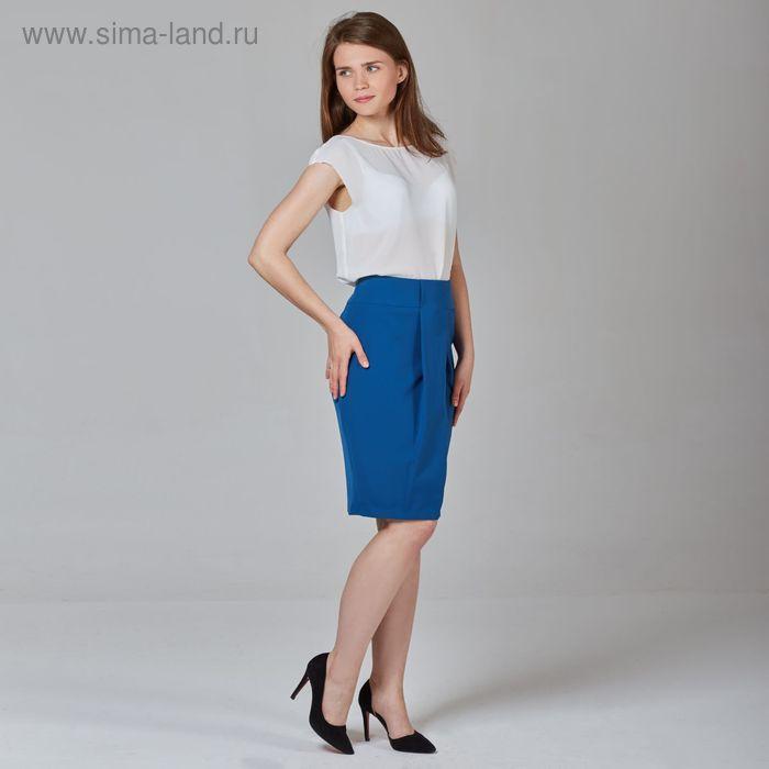 Юбка женская, размер 50, рост 170 см, цвет синий (арт. Y1513-0120 С+)