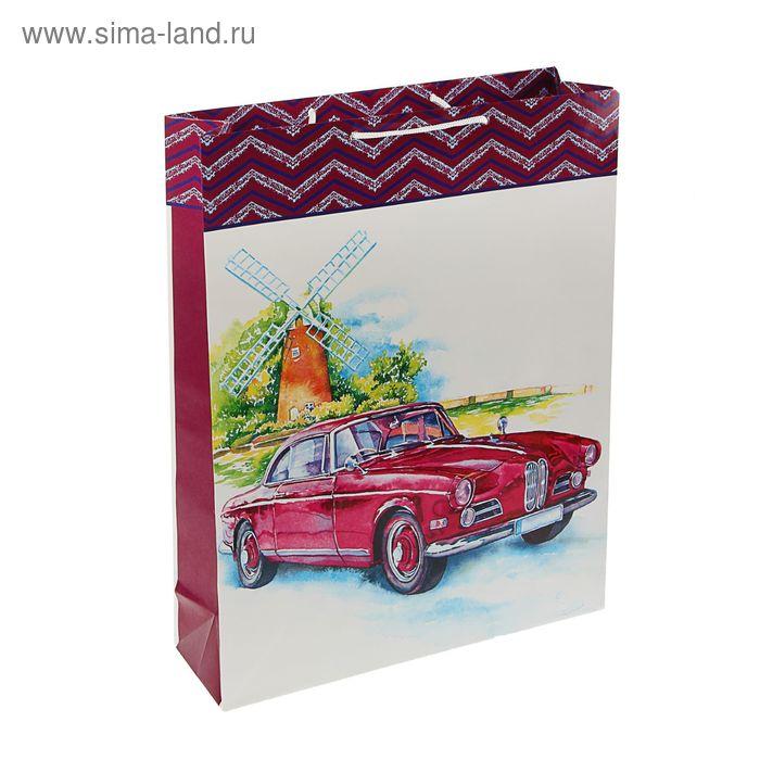 "Пакет подарочный ""Ретро авто"", 42.5 х 33 х 10 см"
