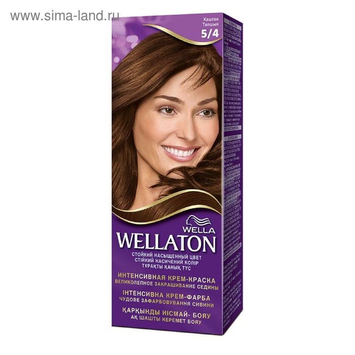"Крем-краска Wellaton ""Каштан 5/4"", 60 мл"