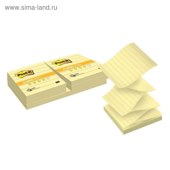 Стикеры Post-it 76x76 мм Z-сложения желтые пастельные 6 блоков по 100 листов