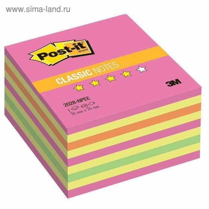 Стикеры Post-it 76х76 мм розовые неоновые 450 листов