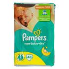 Подгузники PAMPERS new baby-dry, 2-5 кг, 43 шт.