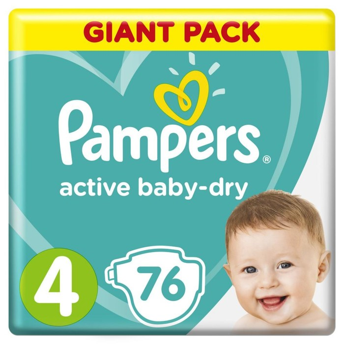 Подгузники Pampers Active Baby Maxi 8–14 кг, 76 шт