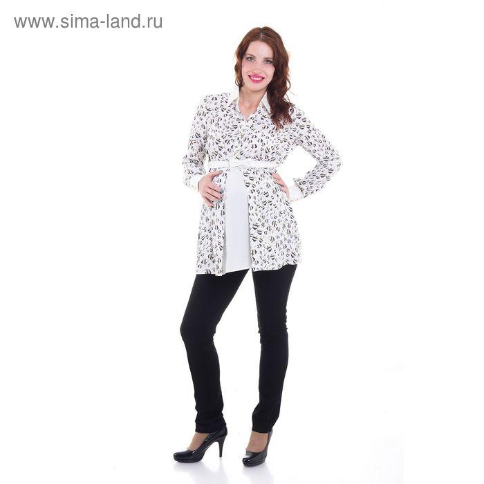 Блузка для беременных, размер 46, рост 168 см, цвет молочный (арт. 30678700)