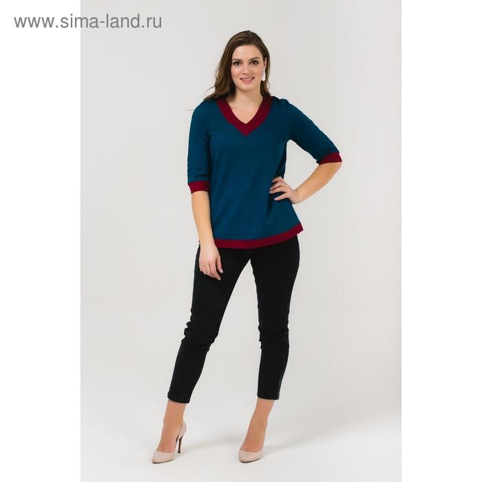 Блузка для беременных, размер 46, рост 168 см, цвет бирюзовый (арт. 31379604)