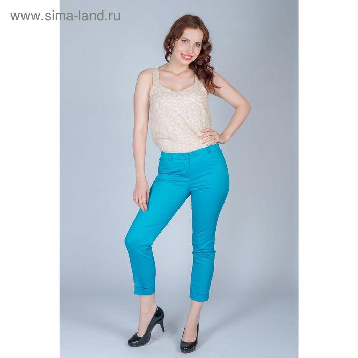 Брюки женские, размер 50, рост 170 см, цвет голубой (арт. 6617786 С+)