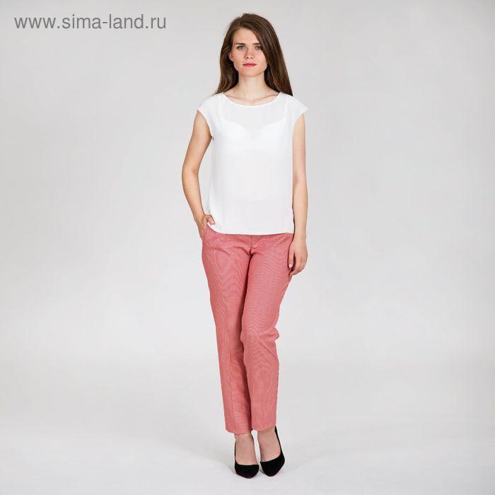 Брюки женские, размер 46, рост 170 см, цвет красно-белый (арт. 4083827)