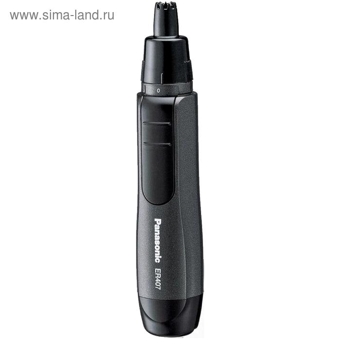 Триммер для стрижки в носу и ушах Panasonic ER407K520, черный