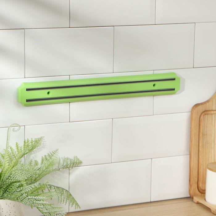 Держатель для ножей магнитный 38 см, цвет зеленый