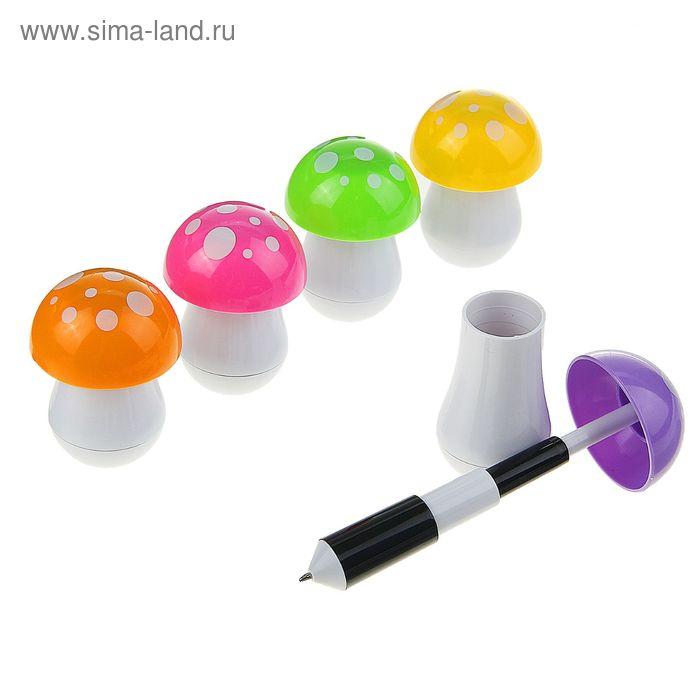 Ручка шариковая-прикол Грибок МИКС выдвижная