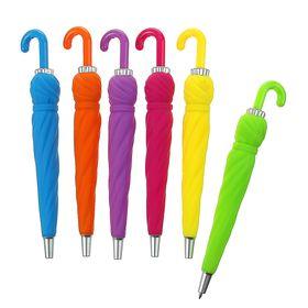 Ручка шариковая-прикол Зонтик МИКС прорезиненный