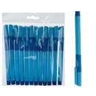 Ручка шариковая 0,7мм стержень синий корпус синий с резиновым держателем