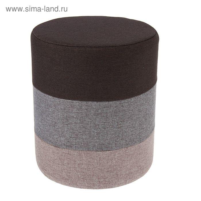 Банкетка круглая 30х30х36 см, цвет серый