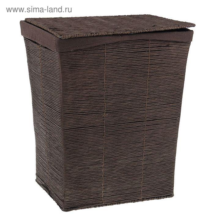 """Корзина для белья плетеная прямоугольная 38х30х48 см """"Венге"""""""