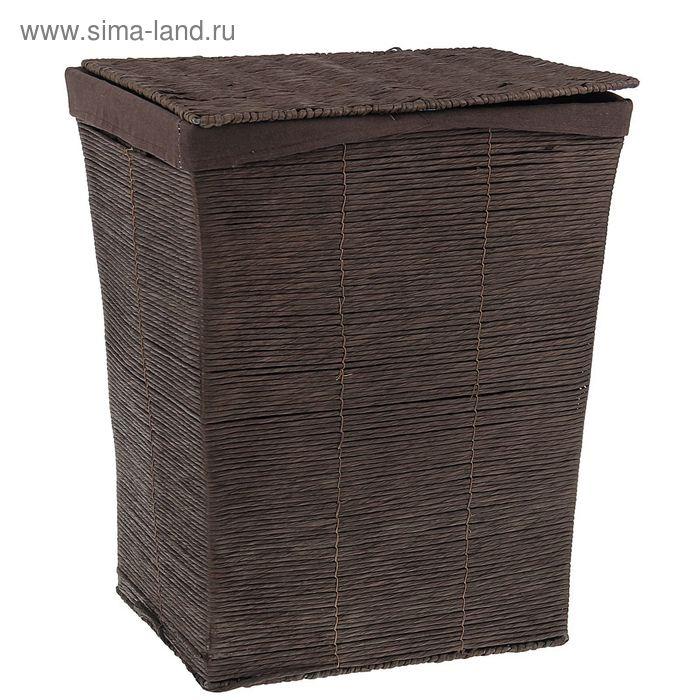 """Корзина для белья плетеная прямоугольная 44х35х53 см """"Венге"""""""