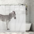 "Штора для ванной 180х200 см ""Зебра"", полиэстер"