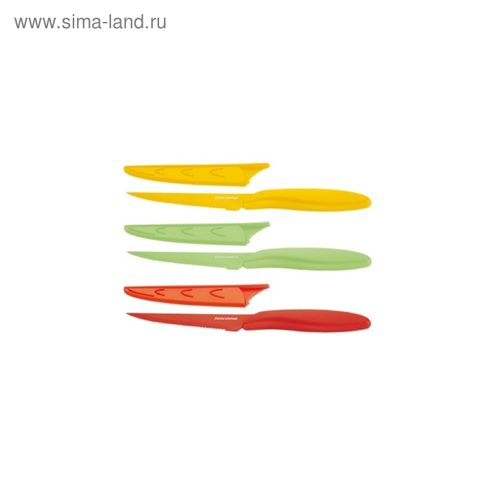 Нож Tescoma PRESTO TONE, с неприлипающим лезвием для стейка, комплект 3 штуки (863142)