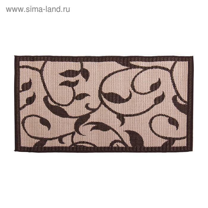 Циновка Flat 11 Шоколад sz1110a2, размер 60х110 см, ворс 100% ПП