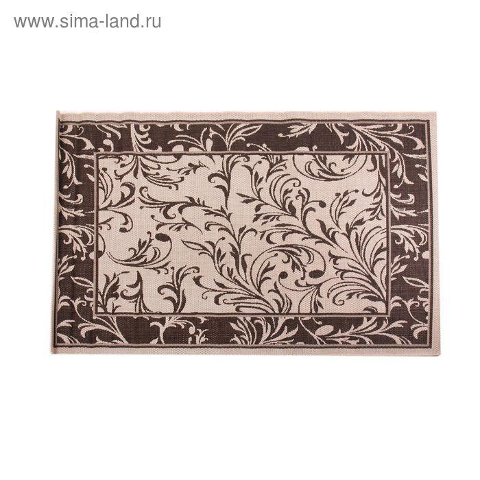 Циновка Flat 11 Шоколад sz2659a2, размер 60х110 см, ворс 100% ПП
