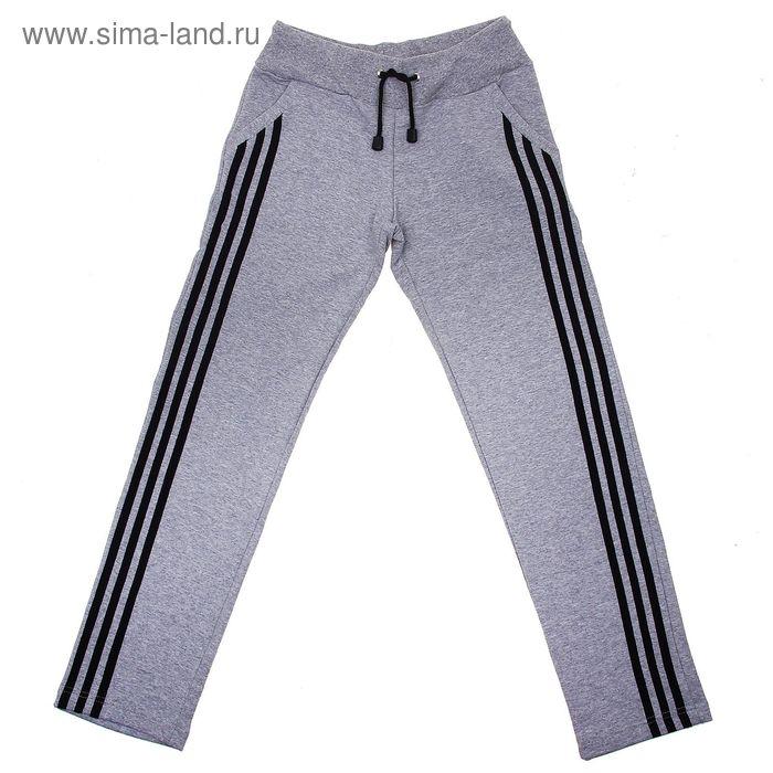 Брюки спортивные для девочки, рост 152-158 см, цвет серый меланж (арт. БЛС2М_П)