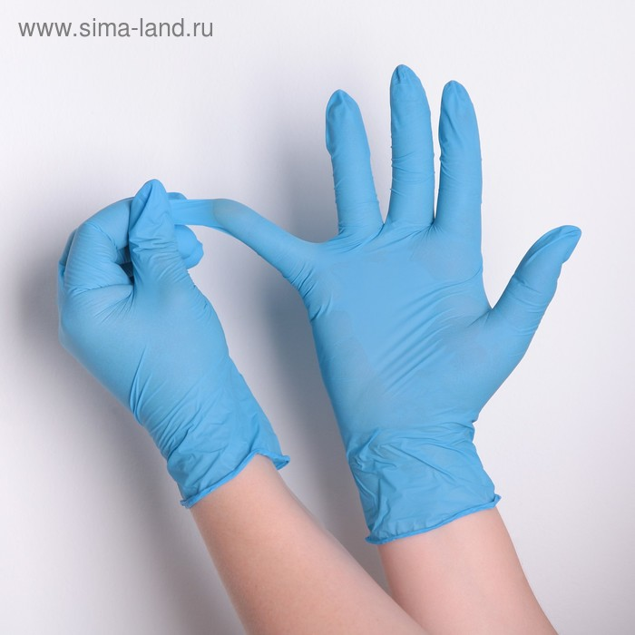 Перчатки нитриловые текстурированные на пальцах XL, 50 пар в коробке