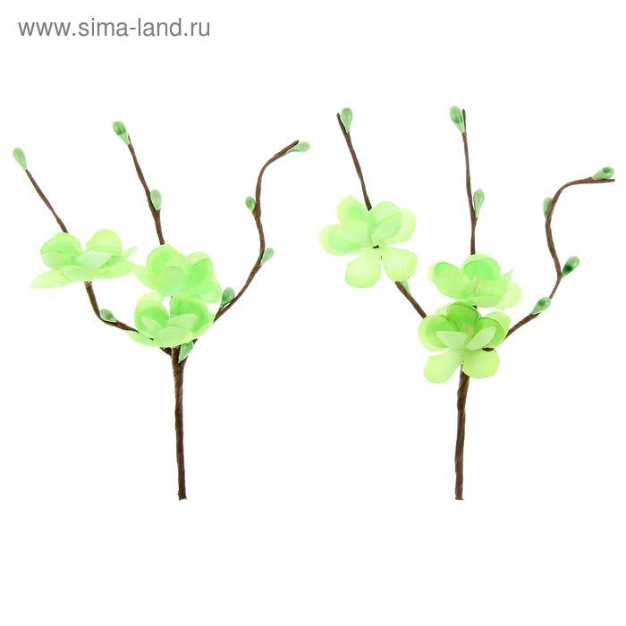 """Набор """"цветы вишни зелёный"""" 2 шт."""