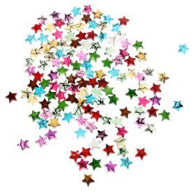"""Бусины """"Цветные звёздочки"""", набор 125 шт., 10 мм"""