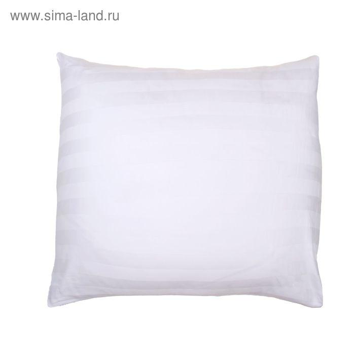 Наволочка КАРО-1 шт., размер 60х60 см, сатин-страйп 3х3 отбелённый 140 г/м2