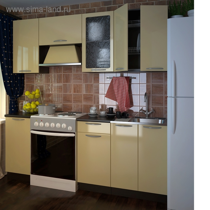 Кухонный гарнитур Ваниль глянец 2000