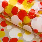 """Плёнка для цветов и подарков """"Круги"""", разноцветный, 70 х 90 см"""
