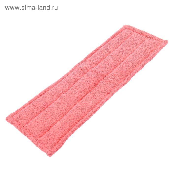 Насадка для швабры с поролоном, 14х44 см, цвет розовый