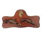 Сувенирное оружие на планшете «Два пистолета», накладной элемент — конь