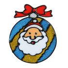 """Наклейка на стекло """"Шар с Дедом Морозом"""""""