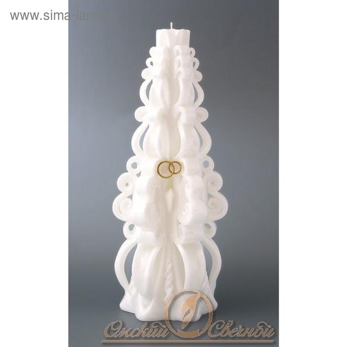 Супер-свеча резная кудрявая (белая)