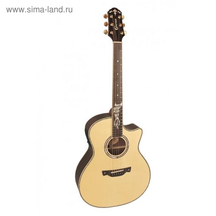 Гитара электроакустическая CRAFTER PK-Rose Plus со встроенным тюнером, натуральное дерево, глянцевая