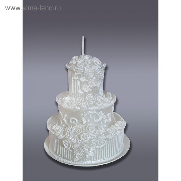 """Свеча мигающая """"Свадебный торт"""""""