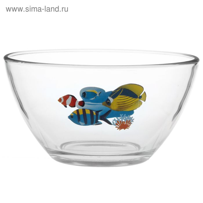 """Салатник 750 мл """"Гладкий. Яркие рыбки"""", d=16 см, рисунок МИКС"""