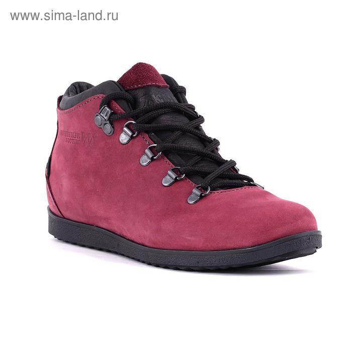 Ботинки TREK Спорт 77-30 капровелюр (бордово-розовый) (р.40)