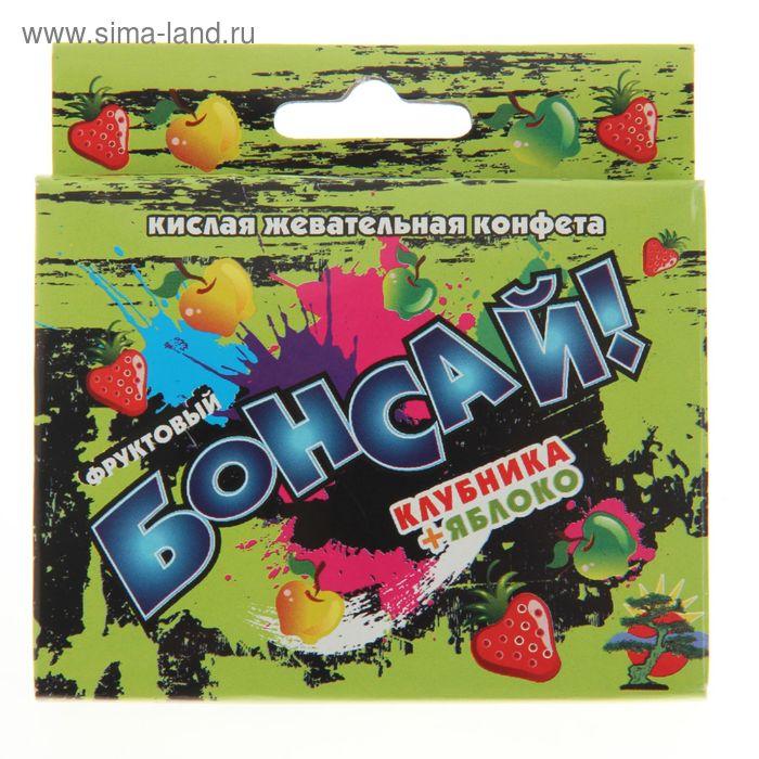 """Жевательная конфета """"Бонсай"""" микс, клубника,яблоко, 14 г"""