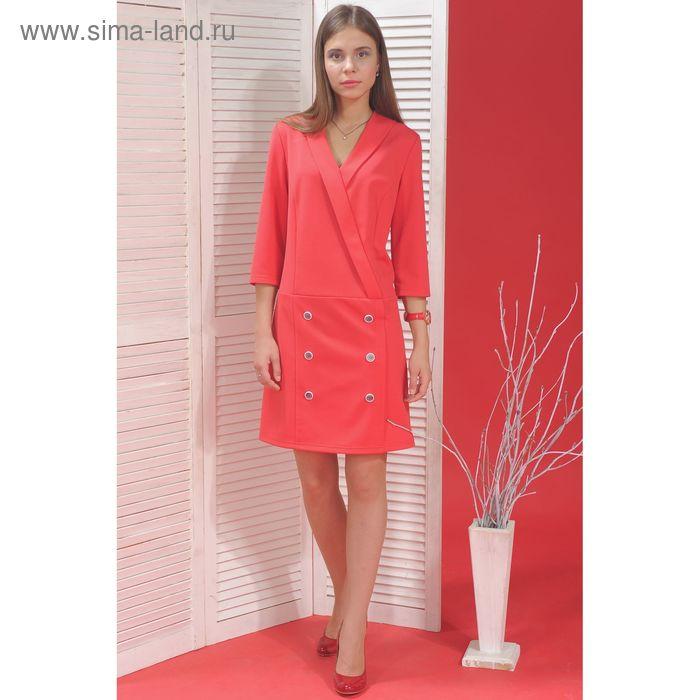 Платье, размер 52, рост 164 см, цвет розовый (арт. 5000а С+)