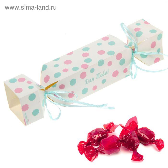 """Складная коробка-конфета """"Нежный горошек"""", 12 х 5 см"""