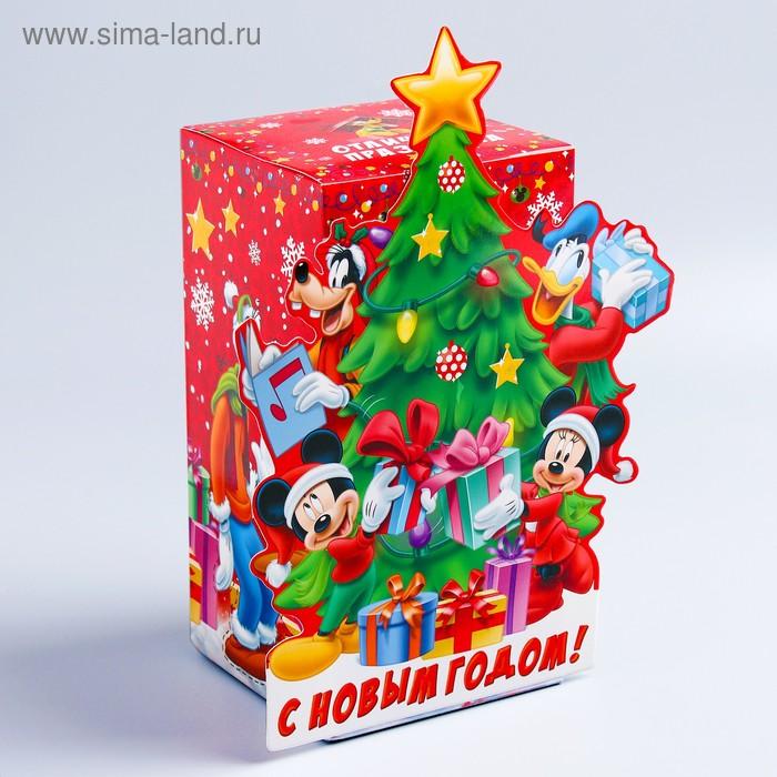 """Коробка складная """"Подарки"""", Микки Маус и друзья, 10 х 20 х 10 см"""